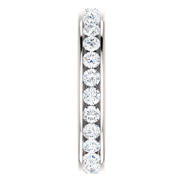 1.25ct 14k Diamond Eternity Classic Channel Set Band