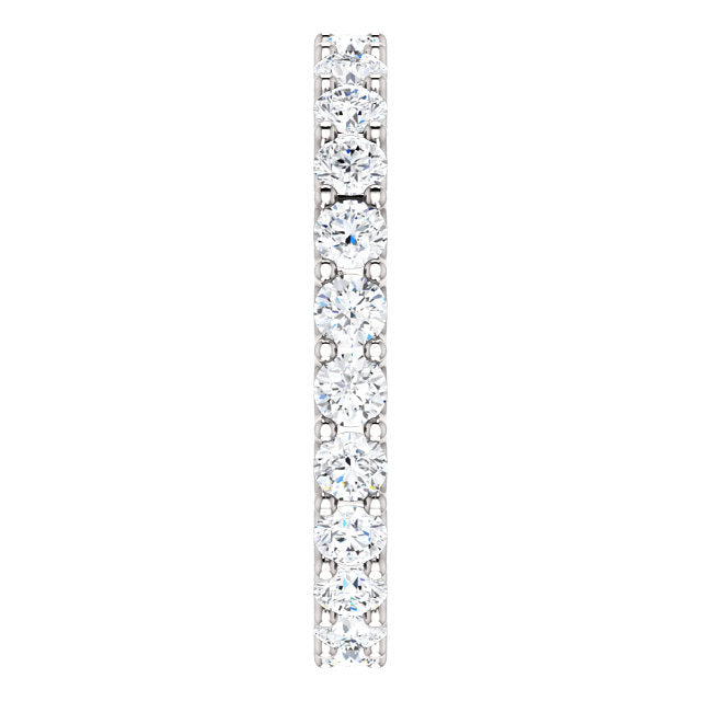 1.75ct 14k Diamond Eternity Band with Scalloped Style Shared Prongs