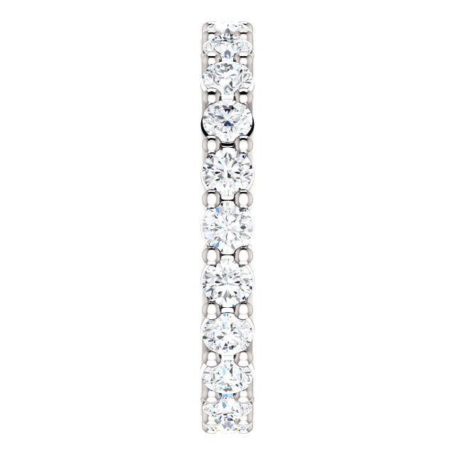1.35ct 14k Low Profile Diamond Eternity Band with Shared Prongs
