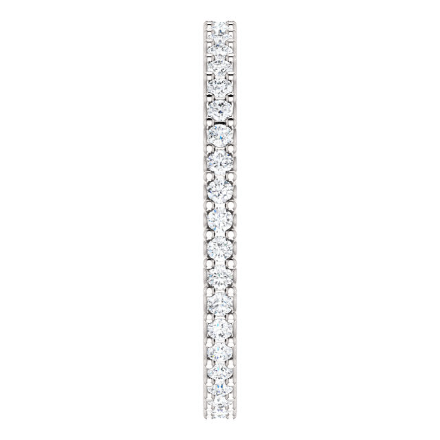 3/8ct 14k Diamond Eternity Band with Scalloped Style Shared Prongs