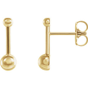 Ball and Bar Earrings