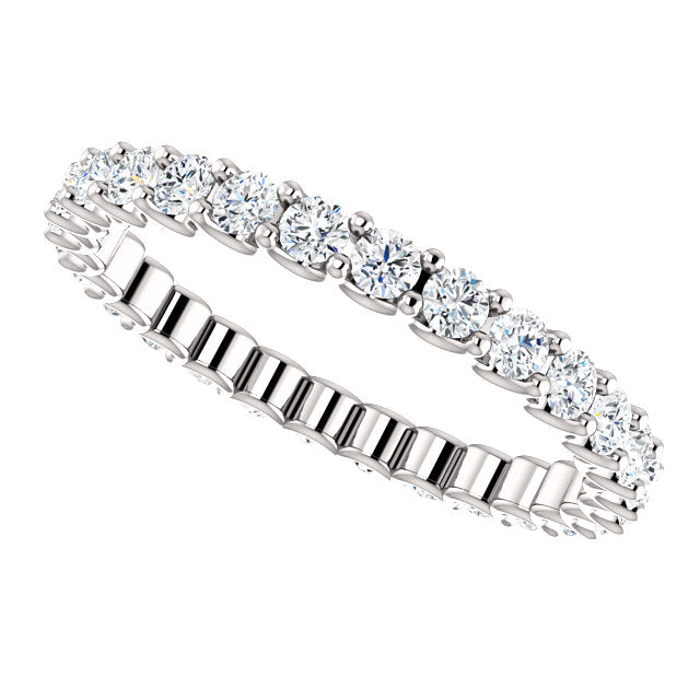 7/8ct 14k Diamond Eternity Band with Scalloped Style Shared Prongs