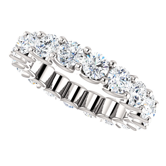 3.75ct 14k Diamond Eternity Band with Scalloped Style Shared Prongs