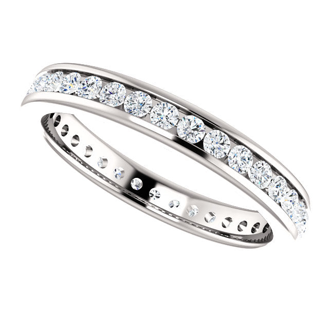 3/4ct 14k Diamond Eternity Classic Channel Set Band