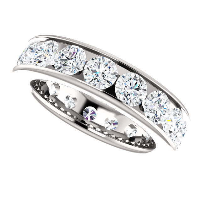 3.50ct 14k Diamond Eternity Classic Channel Set Band