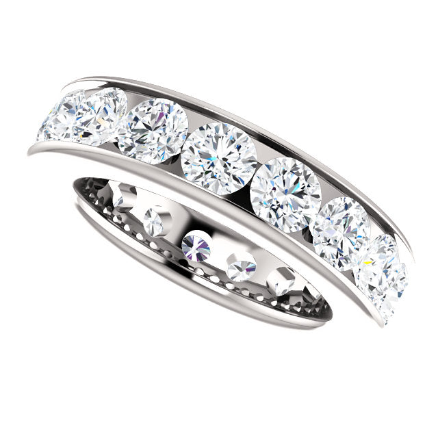 4.25ct 14k Diamond Eternity Classic Channel Set Band