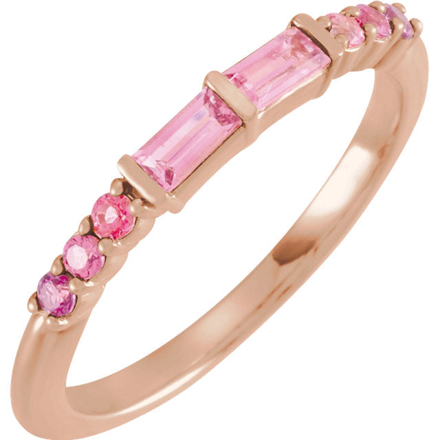 Pink Rainbow Stackable Ring