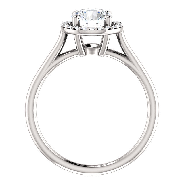 The Sadie - Round Halo Diamond Engagement Ring
