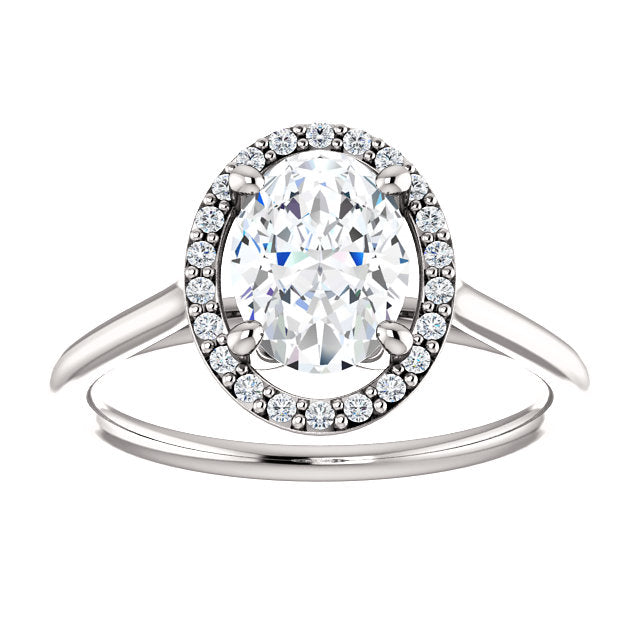 The Sadie - Oval Halo Diamond Engagement Ring