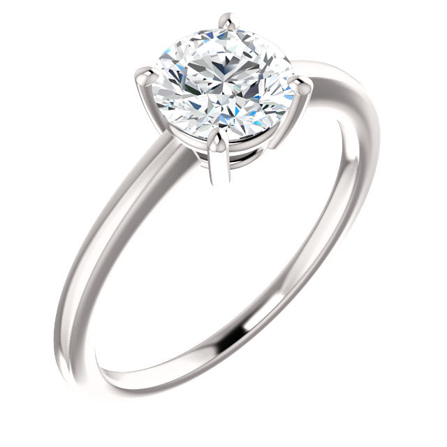 The Elodie - Solitaire Round Diamond Engagement Ring