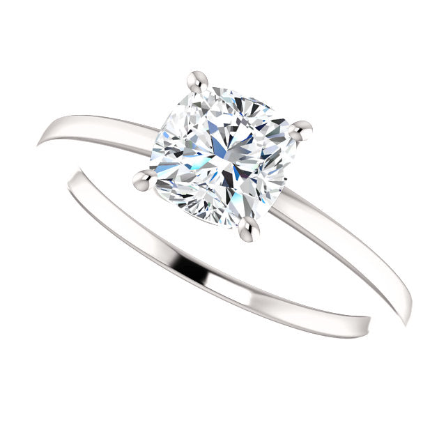 The Elodie - Solitaire Cushion Cut Diamond Engagement Ring