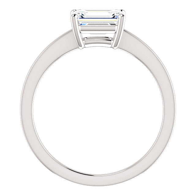 The Elodie - Solitaire Emerald Cut Diamond Engagement Ring