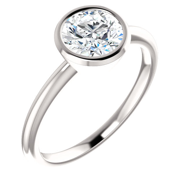 The Gemma - Solitaire Round Diamond Engagement Ring Bezel Set