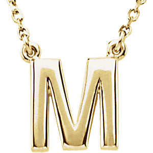 Small Block Initial Necklace