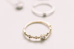 Bubble Diamond Stackable Ring