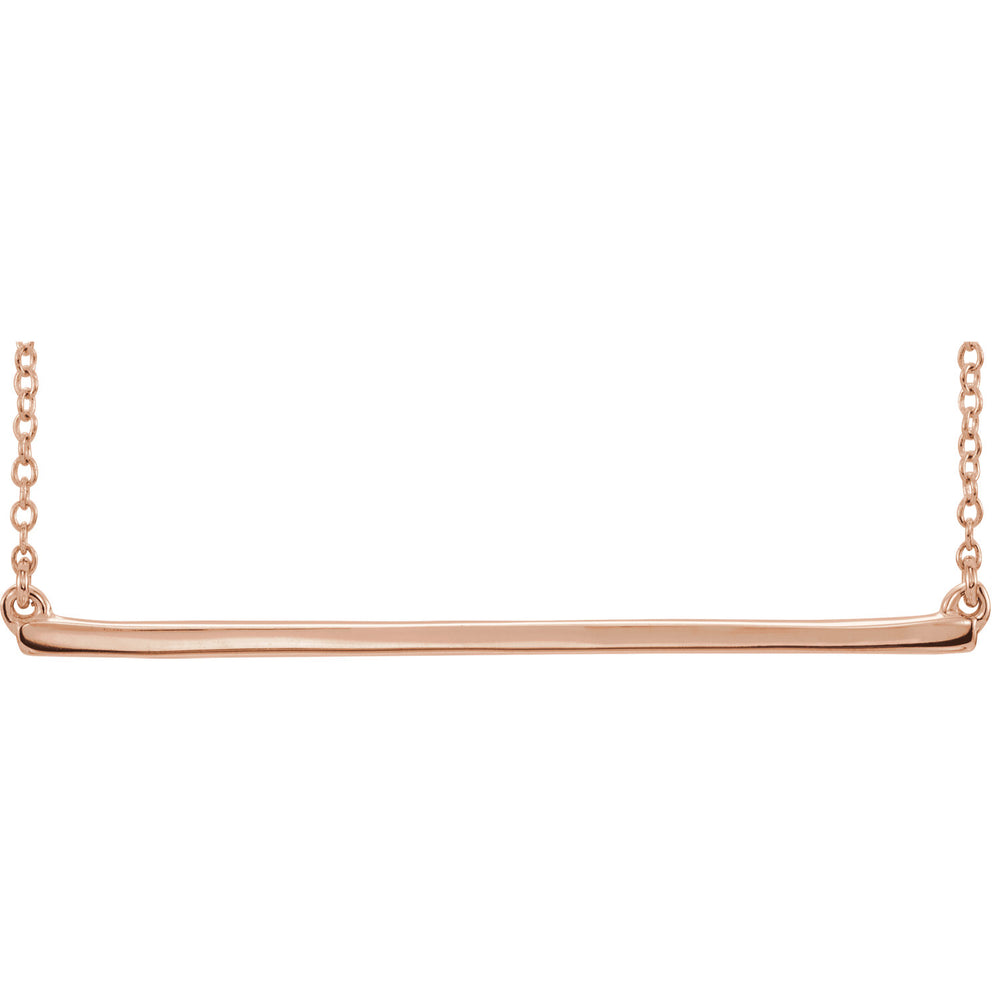 Gold Straight Bar Necklace