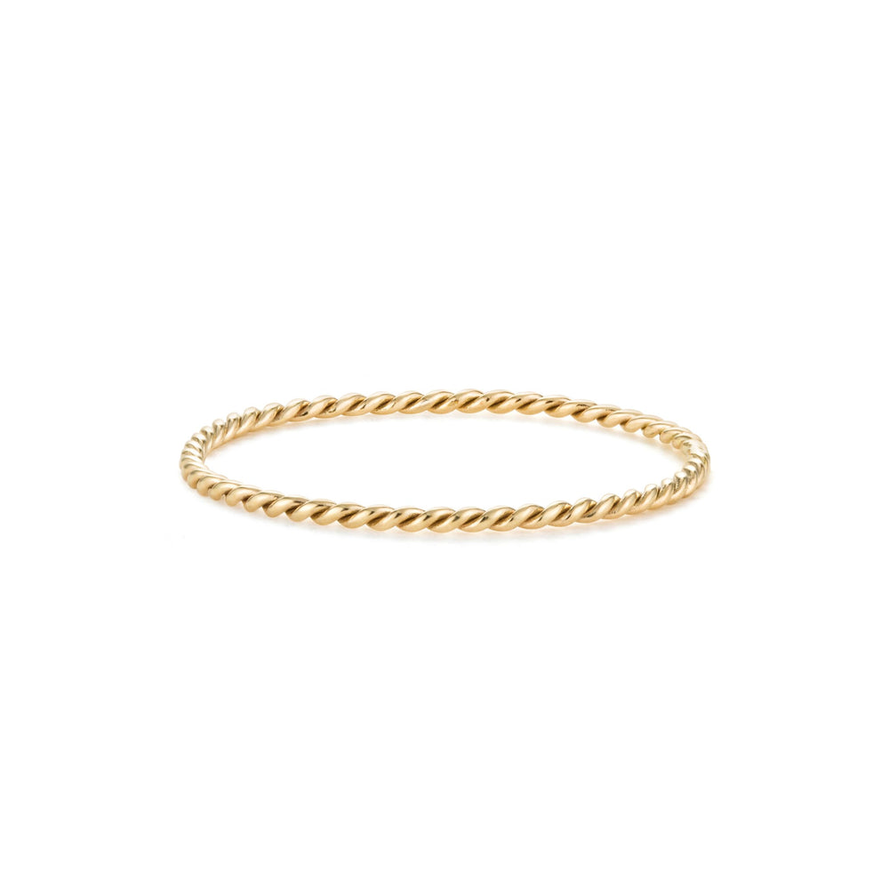 14K Yellow Gold Eternity Twist Stackable Band
