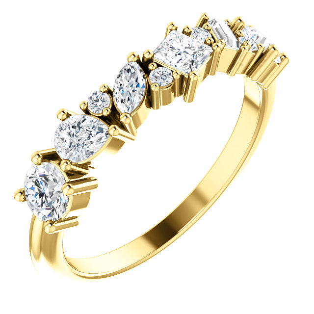 Multi Shape Scatter Diamond Ring