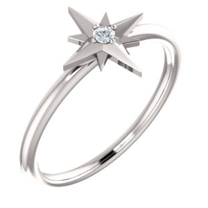 Stackable Starburst Diamond Ring