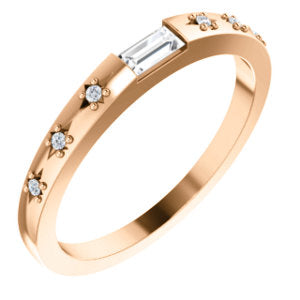 Starburst Diamond Stackable Ring