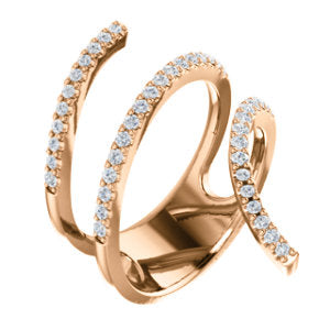 Diamond Triple Coil Ring