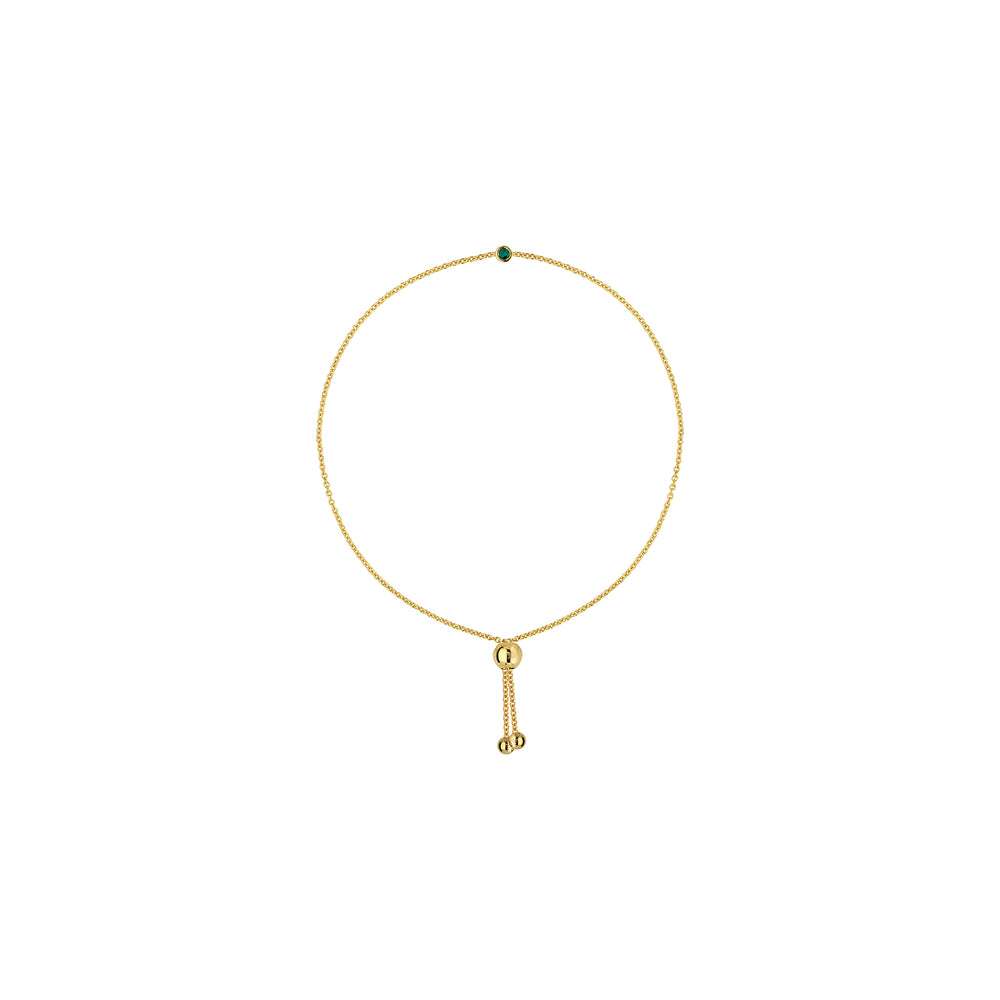 Emerald and 14K Yellow Gold Bracelet