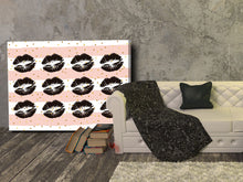 Cuadro Kiss Lips en Lienzo Canvas