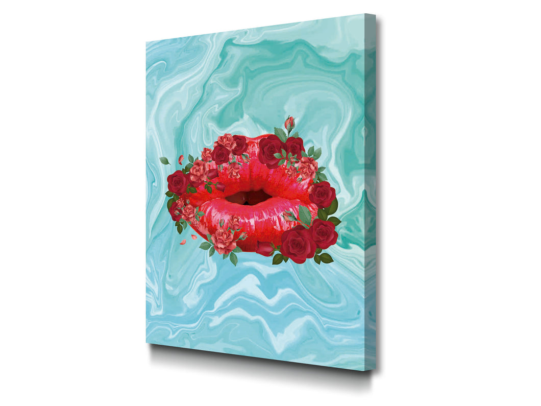 Cuadro Rose Lips en Lienzo Canvas