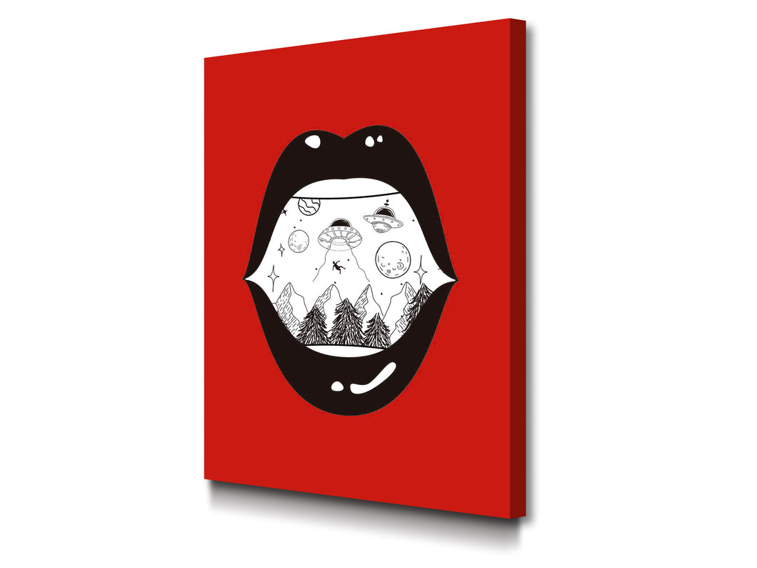 Cuadro Space Lips en Lienzo Canvas
