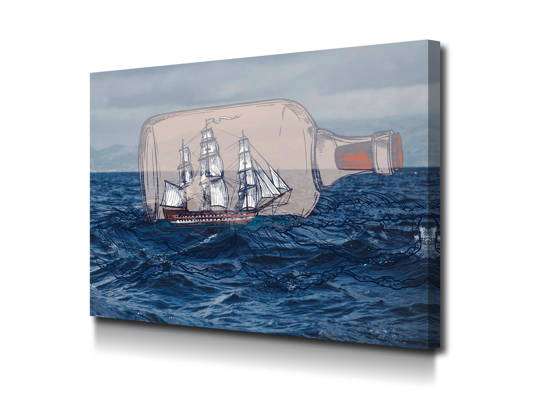 Cuadro Message in a bottle en lienzo canvas decorativo