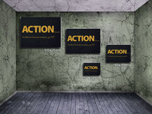 Cuadro Action as a noun en Lienzo Canvas