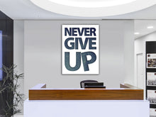 Cuadro Moderno Never Give Up en Lienzo Canvas