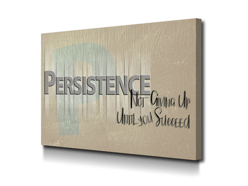 Cuadro Persist Not Give Up en Lienzo Canvas