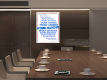 Cuadro inspiracional Work Harder en Lienzo Canvas