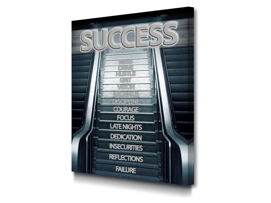 Cuadro Moderno Success Stairs en Lienzo Canvas