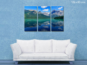 Cuadro Lago naturaleza en Lienzo Canvas Multipanel