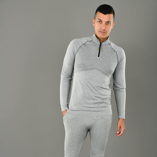 K-Wear Mens Quarter-Zip Top