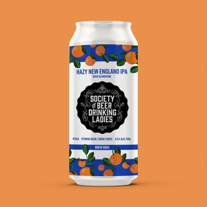 Hazy New England IPA with Clementine - Society of Beer Drinking Ladies