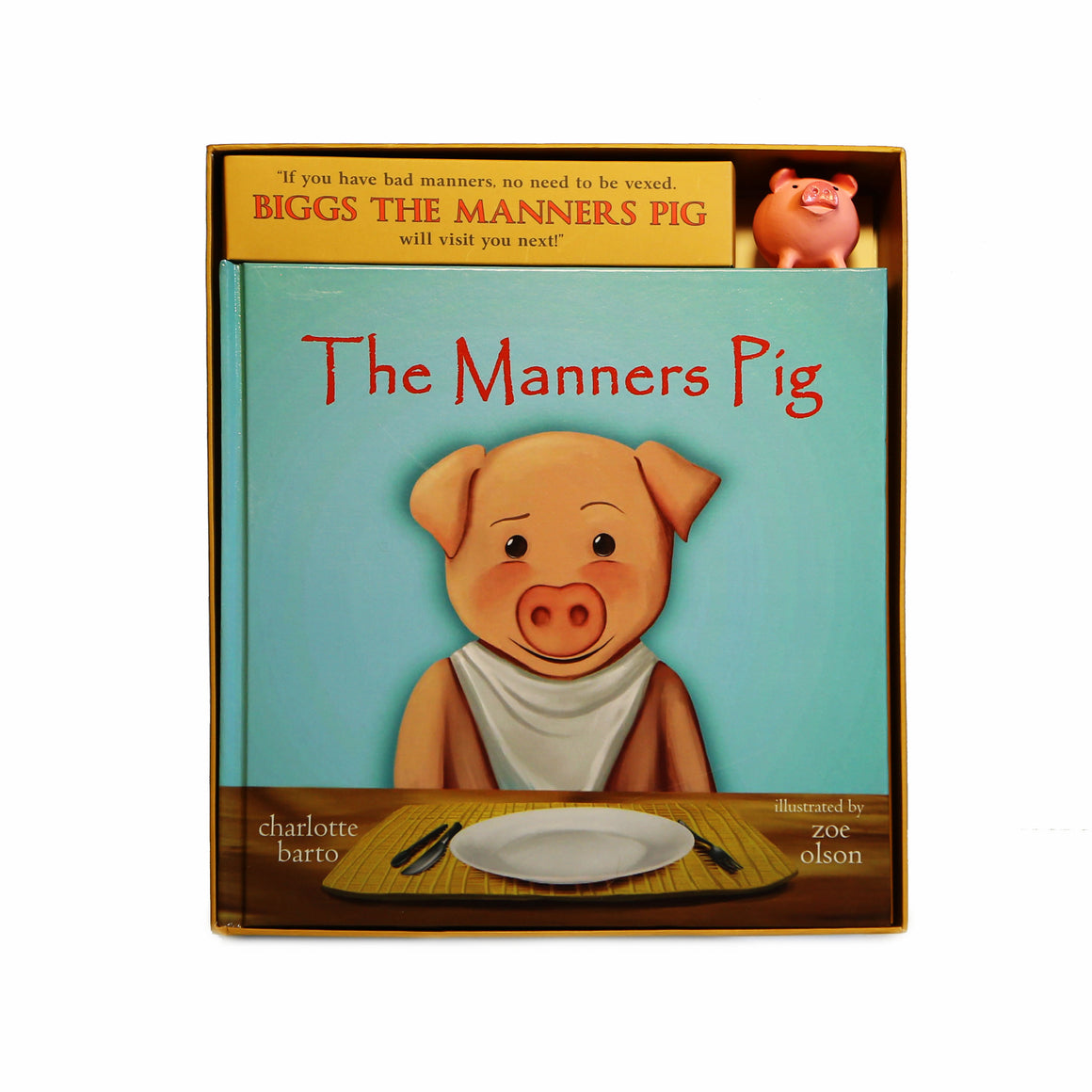 Manners Pig Book And Toy Pig Set