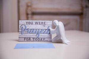 Prayer Angel Ceramic Card Holder