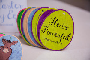 Easter Story Christian Devotional Card Set