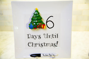Days Until Christmas Write Words Reusable Cling