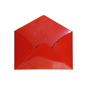 Everything Envelope Red Metal Card Holder