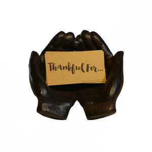 My Father's Hands, Hand-Crafted In Cast Iron And Card Set