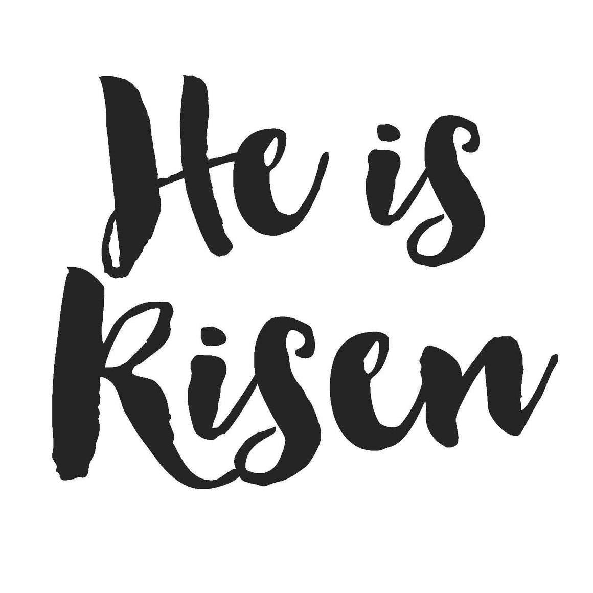 He is Risen Write Words Reusable Cling