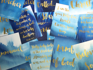 His Name Shall Be Called... Christian Devotional Card Set