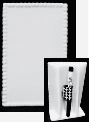 "Write Board, 6.5"" Beaded Ceramic Menu Board"