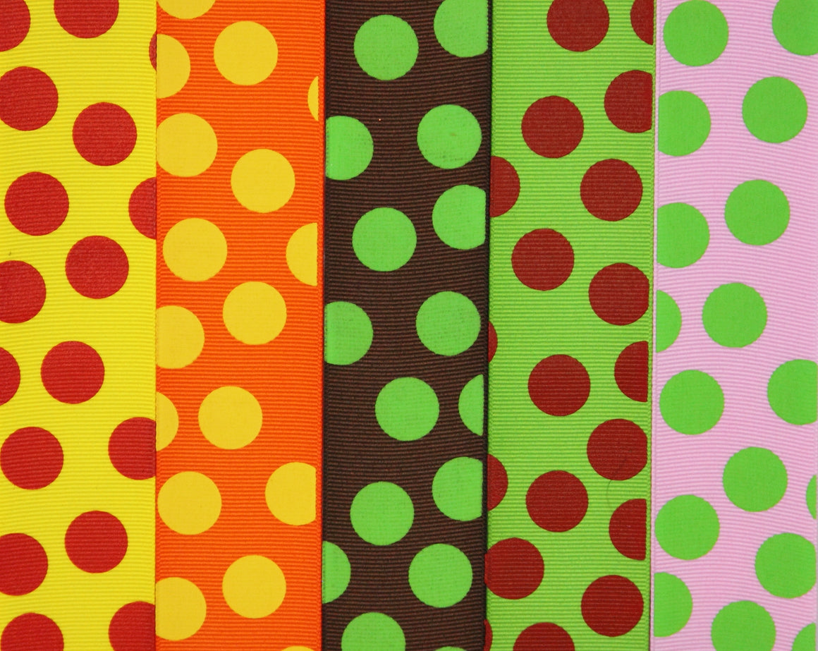 Lots of Dots 5-Pack Ribbon Collection For The Write Plate