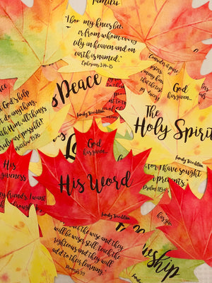 Thankful Leaves Christian Devotional Card Set