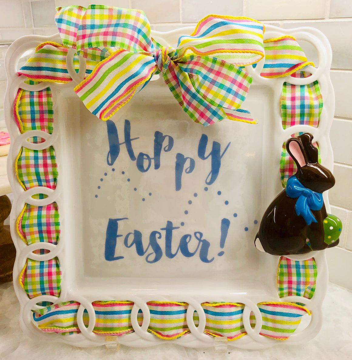 Hoppy Easter Write Words Reusable Cling